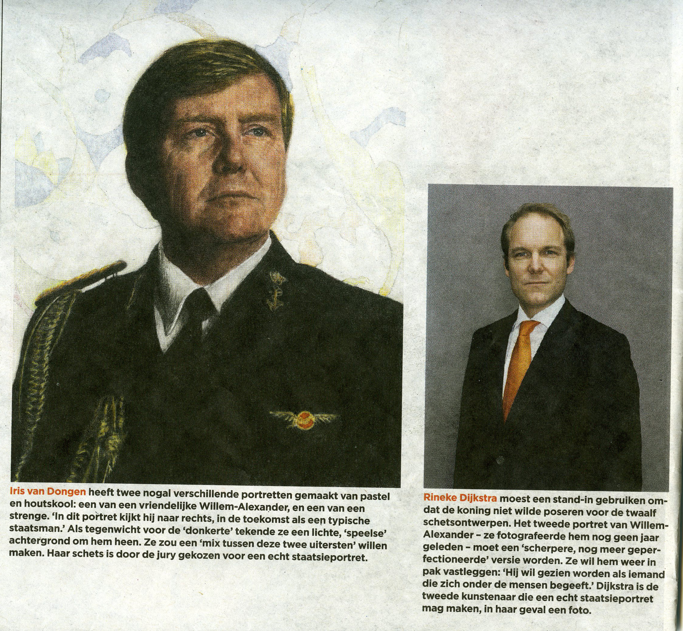 photoq-van-zoetendaal-krantenknipsel-volkskrant-staatsieportretten