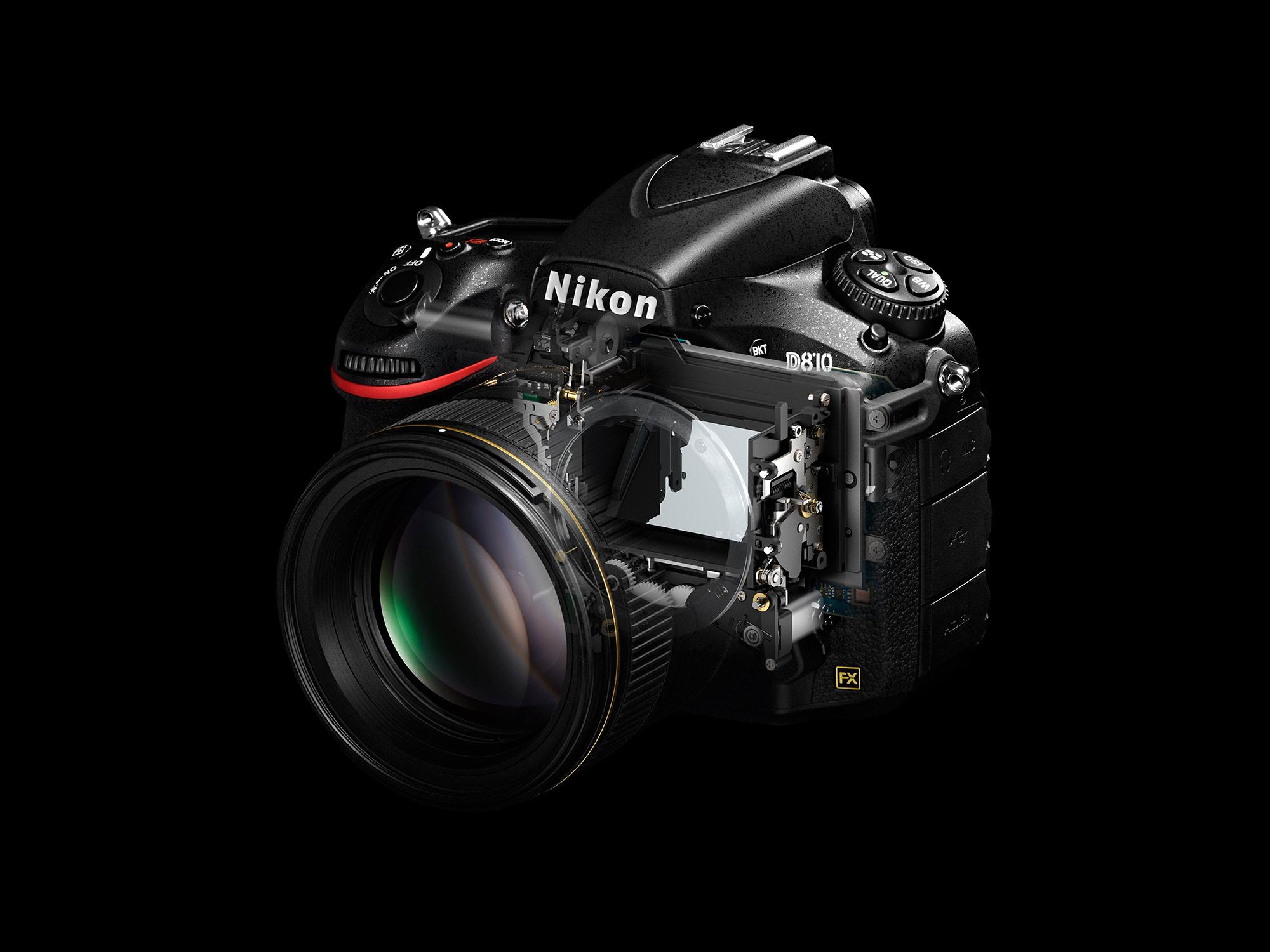 Nikon D810 doorsnede