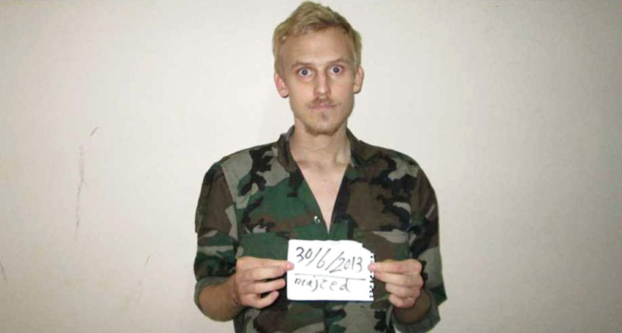 Daniel Rye Ottosen tijdens zijn ontvoering
