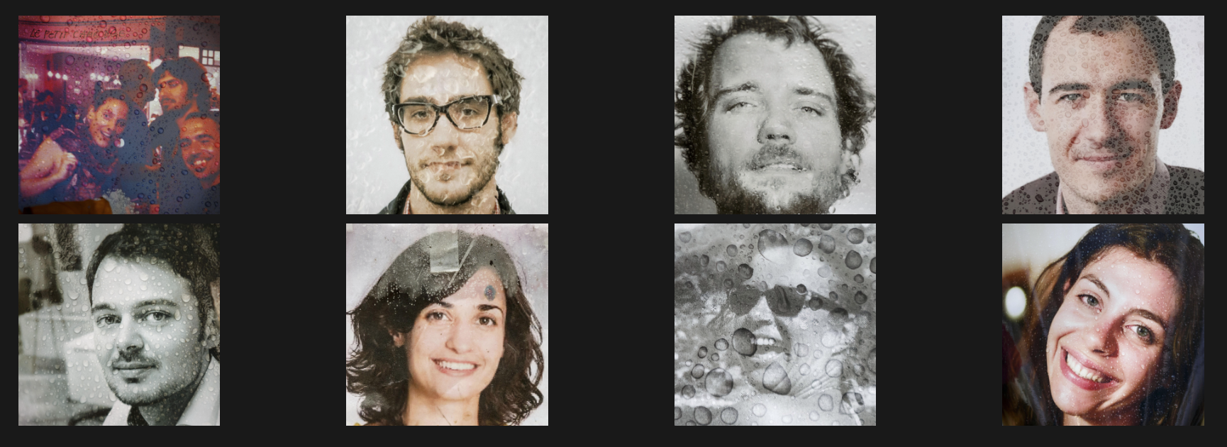 De door AP teruggetrokken serie portretten